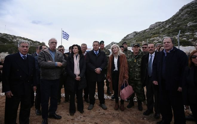 The Parliamentary Foreign Affairs and Defense Committee visits the border islands of Ro, Stroggili Megistis and Kastellorizo, Greece on December 5, 2016. /   ,           , 5  2016.