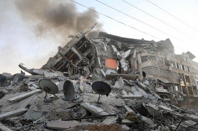 Πλάνα από βομβαρδισμούς εναντίον Παλαιστινίων
