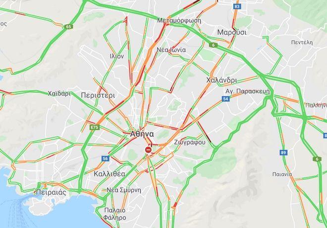 Κίνηση στους δρόμους: Μαρτύριο για τους οδηγούς