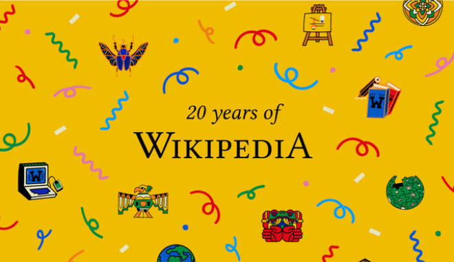 H Wikipedia, σήμερα Παρασκευή 15 Ιανουαρίου γιορτάζει τα 20ά γενέθλιά της