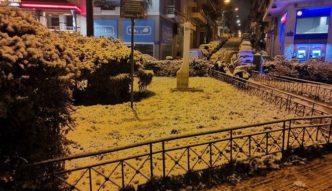 Το Παγκράτι χιονισμένο