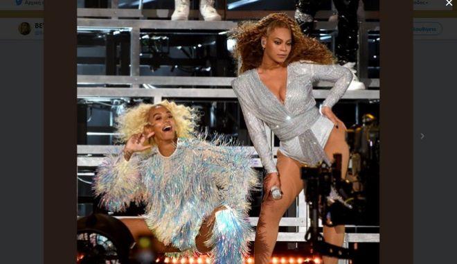 Η Beyonce με την αδελφή της Solange στο φεστιβάλ Coachella