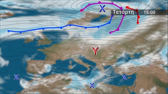 Περαιτέρω πτώση θερμοκρασίας-Πολύ θυελλώδεις βοριάδες στο Αιγαίο