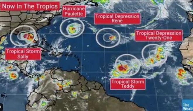 ΗΠΑ - Τυφώνες: Ξεμένουν από ονόματα και στρέφονται στο ελληνικό αλφάβητο