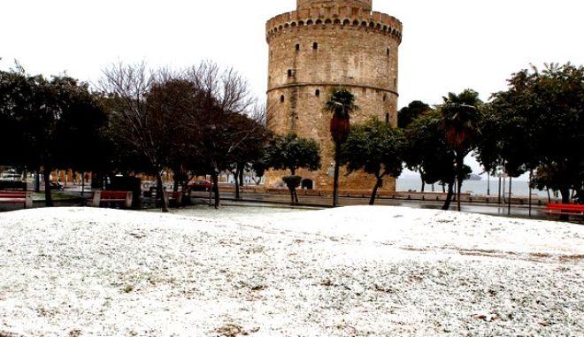 H χιονισμένη Θεσσαλονίκη