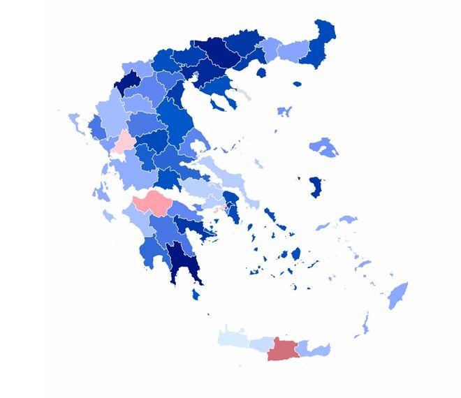 Αποτελέσματα ευρωεκλογών 2019: Σε ποιες περιοχές καταγράφονται οι μεγαλύτερες διαφορές ΣΥΡΙΖΑ - ΝΔ