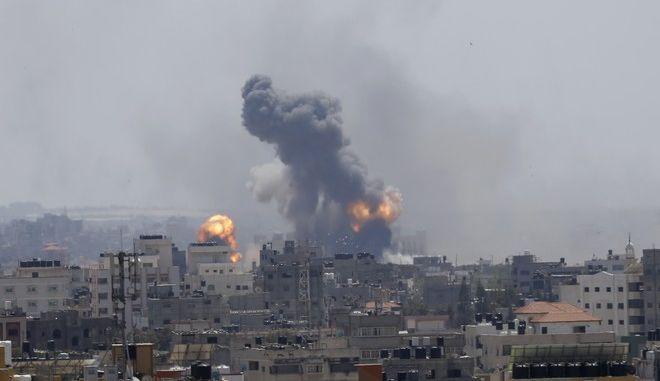 Αεροπορική επιδρομή στην πόλη της Γάζας