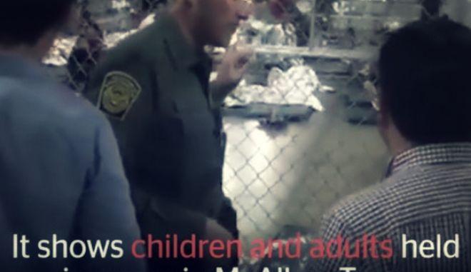 Η νέα πολιτική του Τραμπ: Παιδιά σε κλουβιά χωρισμένα απ' τους γονείς τους
