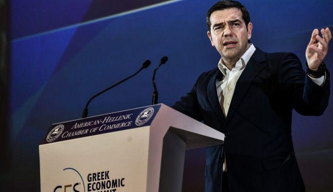 """Ομιλία του προέδρου του ΣΥΡΙΖΑ, Αλέξη Τσίπρα στο 30ο ετήσιο Συνέδριο """"Η Ώρα της Ελληνικής Οικονομίας"""" που διοργάνωσε το Ελληνο-Αμερικανικό Επιμελητήριο."""
