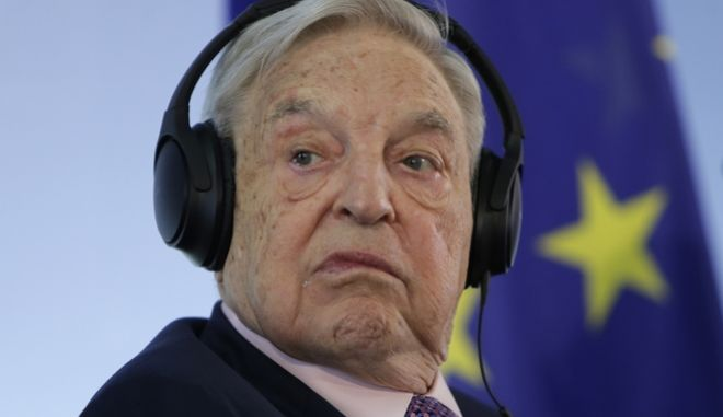 FILE - In this June 8, 2017 file photo Hungarian-American investor George Soros attends a press conference prior to the launch event for the European Roma Institute for Arts and Culture at the Foreign Ministry in Berlin, Germany. Soros said oppression of the opposition by Prime Minister Viktor Orban's government is greater than when Hungary was under Soviet domination. He said in a video message that if Orban expels the Soros-founded Central European University, he will keep it in exile and return after Orban's departure. (AP Photo/Ferdinand Ostrop, file)