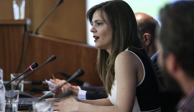 Press conference by the Minister of Labour, Effie Achtsioglou, in Athens, on July 24, 2017  /       ,  ,  ,  24 , 2017