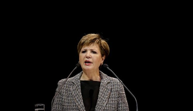 Η υπουργός Προστασίας του Πολίτη Όλγα Γεροβασίλη σε εκδήλωση της ΕΛΑΣ