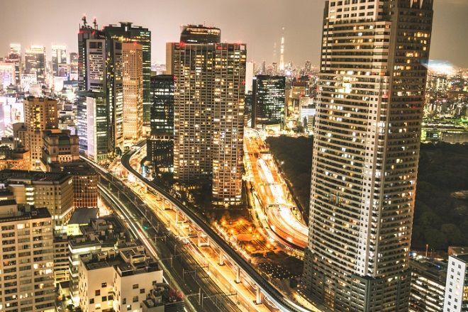 Tokyo skyline on the night