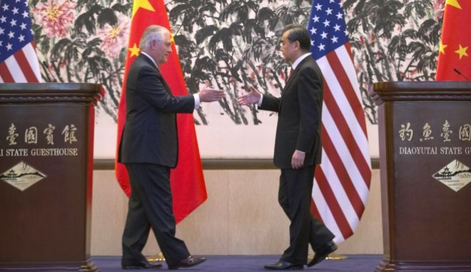 Τίλερσον: Οι ΗΠΑ θα εργαστούν από κοινού με την Κίνα για το θέμα της Βόρειας Κορέας