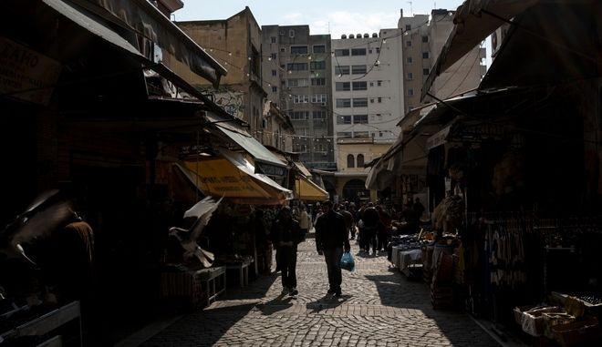 Στιγμιότυπο από την αγορά της Θεσσαλονίκης