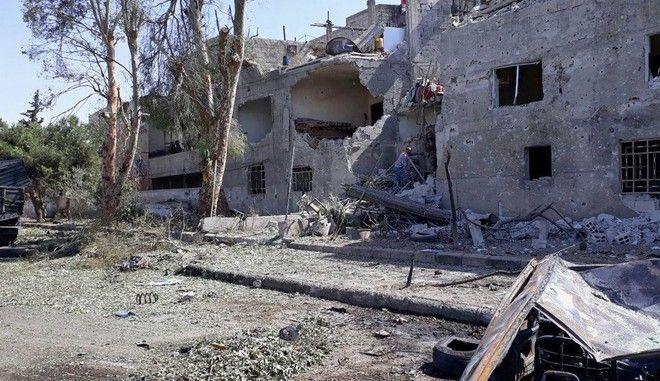 Βομβαρδισμός στη Συρία - Φωτό αρχείου