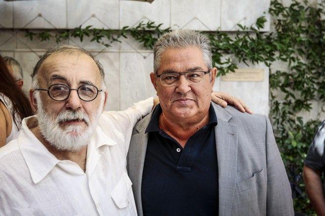 Θάνος Μικρούτσικος και Δημήτρης Κουτσούμπας