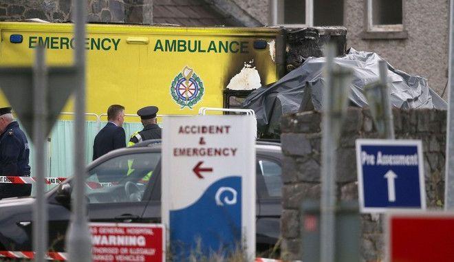Ασθενοφόρο εξερράγη έξω από νοσοκομείο και σκοτώθηκε ο ασθενής