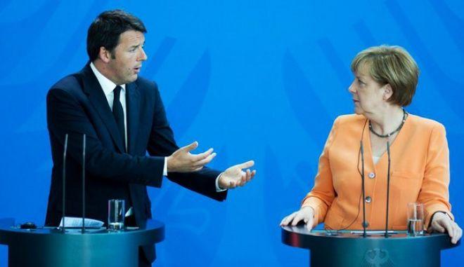 Ρέντσι σε Μέρκελ: Άγκελα, μην μας λέτε ότι δίνετε το αίμα σας για την Ευρωπαϊκή Ένωση