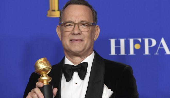 Ο Tom Hanks στην απονομή των Χρυσών Σφαιρών