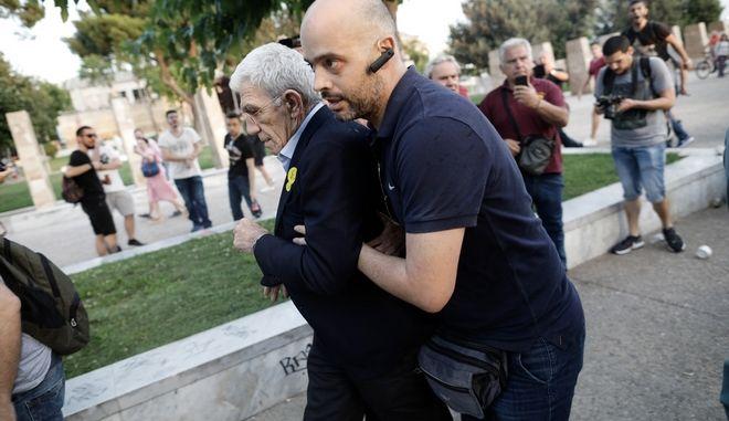 O δήμαρχος Θεσσαλονίκης, Γιάννης Μπουτάρης μετά την επίθεση που δέχτηκε