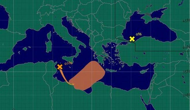 Έντονες καταιγίδες στην Κεντρική Μεσόγειο το επόμενο διήμερο