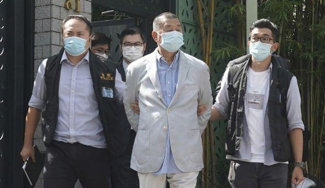 Χονγκ Κονγκ: Συνελήφθη ο μεγιστάνας των ΜΜΕ, Τζίμι Λάι