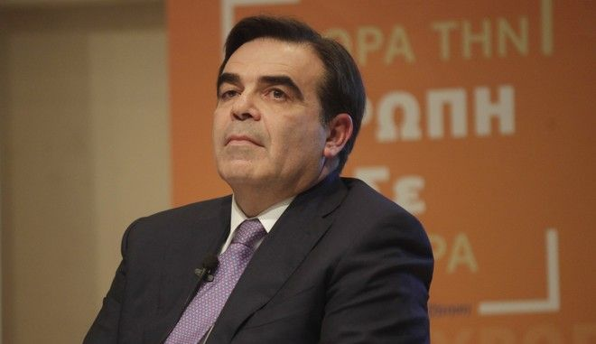 Ο εκπρόσωπος Τύπου της Ευρωπαϊκής Επιτροπής Μαργαρίτης Σχοινάς σε εκδήλωση στην Αθήνα