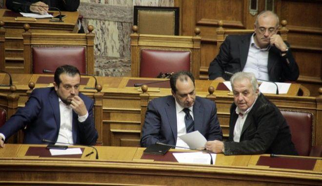 Συζήτηση και λήψη απόφασης, στην Βουλή, για αιτήσεις άρσης ασυλίας Βουλευτών, την Τετάρτη 9 Δεκεμβρίου 2015. (EUROKINISSI/ΓΙΩΡΓΟΣ ΚΟΝΤΑΡΙΝΗΣ)