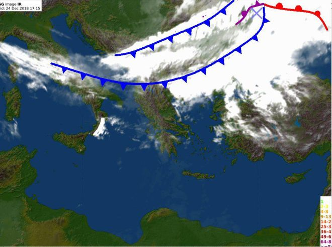 Στο ψυγείο η χώρα: Έκλεισε το Μπάφι, χιόνια και στη Λέσβο