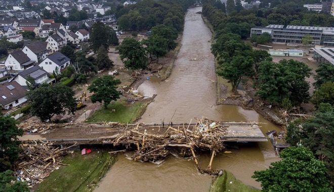 Εικόνα από τις φονικές πλημμύρες στη Γερμανία