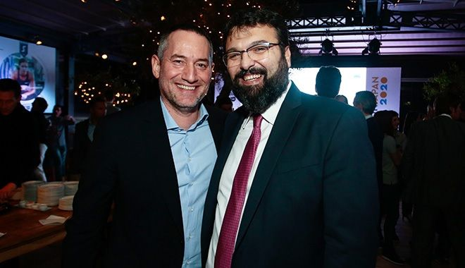 Ο ιδρυτής και πρόεδρος του ομίλου 24MEDIA, Δημήτρης Μάρης και ο υφυπουργός Αθλητισμού Γιώργος Βασιλειάδης