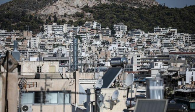 Σπίτια της Αθήνας από ψηλά