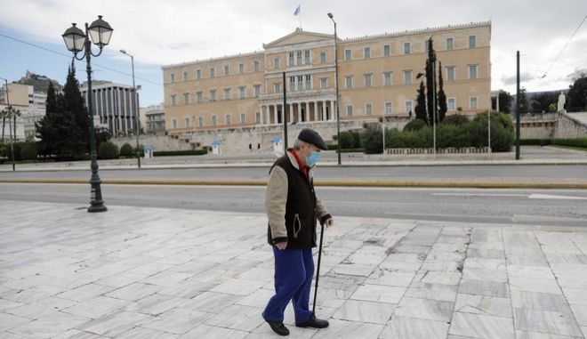 Καρέ από το lockdown στην Αθήνα