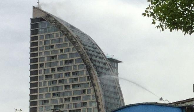 Ο πρώην πύργος Τραμπ στο Μπακού