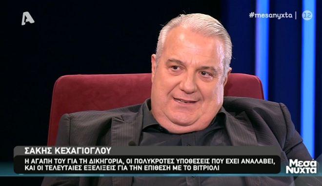 """Ο Σάκης Κεχαγιόγλου στα """"Μεσάνυχτα"""""""