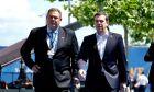 Ο πρωθυπουργός Αλέξης Τσίπρας και ο Υπουργός Εθνικής Άμυνας Πάνος Καμμένος στη Σύνοδο Κορυφής του ΝΑΤΟ που πραγματοποιείται στις Βρυξέλλες.
