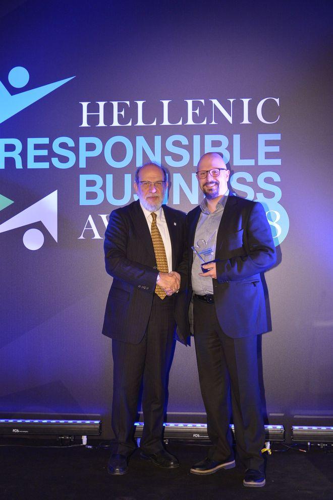 Βράβευση της Αθηναϊκής Ζυθοποιίας στα Hellenic Responsible Business Awards 2018