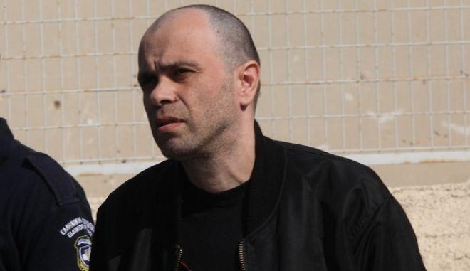 5-10-2011-Ξεκινά σήμερα στην ειδικά διαμορφωμένη αίθουσα των φυλακών Κορυδαλλού η δίκη για την υπόθεση της οργάνωσης του Επαναστατικού Αγώνα// ΣΤΗ ΦΩΤΟΓΡΑΦΙΑ Ο ΚΑΤΗΓΟΡΟΥΜΕΝΟΣ  ΝΙΚΟΣ ΜΑΖΙΩΤΗΣ.(EUROKINISSI-ΓΙΑΝΗΣ ΠΑΝΑΓΟΠΟΥΛΟΣ)