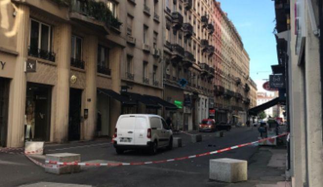 Το σημείο που σημειώθηκε η έκρηξη στη Λιόν