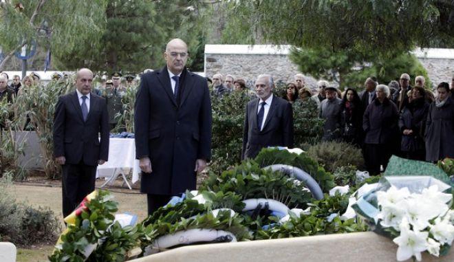 Εκδήλωση για την «Ημέρα Μνήμης των Ελλήνων Εβραίων Μαρτύρων και Ηρώων του Ολοκαυτώματος»  την Δευτέρα 27 Ιανουαρίου 2014, για να τιμηθεί η μνήμη των χιλιάδων Ελλήνων Εβραίων, που έχασαν τη ζωή τους στα ναζιστικά στρατόπεδα συγκέντρωσης και να εξαρθεί ο ηρωισμός των χριστιανών Ελλήνων, που με κίνδυνο της ζωής τους στην κατεχόμενη Ελλάδα, έσωσαν πολλούς Εβραίους συμπολίτες τους από βέβαιο θάνατο. (EUROKINISSI/ΓΕΩΡΓΙΑ ΠΑΝΑΓΟΠΟΥΛΟΥ)