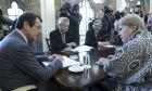Η απεσταλμένη του ΟΗΕ Τζέιν Χολ Λουτ με τον Κύπριο πρόεδρο Νίκο Αναστασιάδη σε συνάντησή τους τον Δεκέμβριο του 2018 στη Λευκωσία