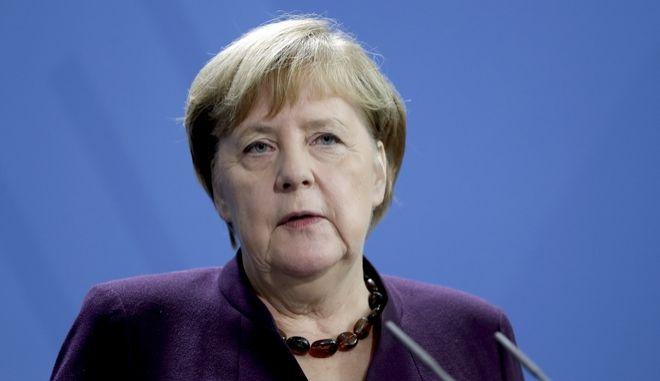 Η Γερμανίδα καγκελάριος Άνγκελα Μέρκελ στο Βερολίνο
