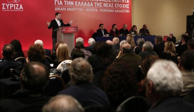 Ο Αλέξης Τσίπρας μιλά σε προηγούμενη συνεδρίαση της ΚΕ του ΣΥΡΙΖΑ