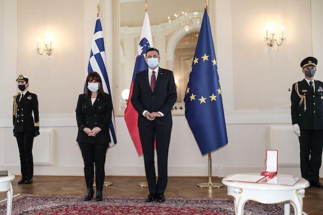Επίσκεψη της Προέδρου της Δημοκρατίας Κατερίνας Σακελλαροπούλου στην Σλοβενία, 22 Απριλίου 2021