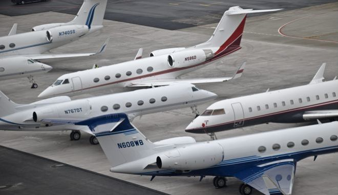 Ρεκόρ πτήσεων ιδιωτικών τζετ στο Νταβός