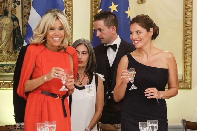 Επίσημο δείπνο προς τιμήν του Προέδρου της Γαλλικής δημοκρατίας Εμανουέλ Μακρόν από τον πρόεδρο της Ελληνικής δημοκρατίας Προκόπη Παυλόπουλο. Πέμπτη 7 Σεπτέμβρη 2017.(EUROKINISSI / ΓΙΩΡΓΟΣ ΚΟΝΤΑΡΙΝΗΣ)