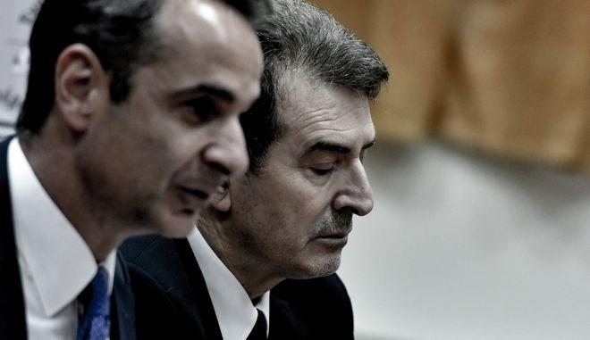 Ο Κυριάκος Μητσοτάκης και ο Μιχάλης Χρυσοχοΐδης