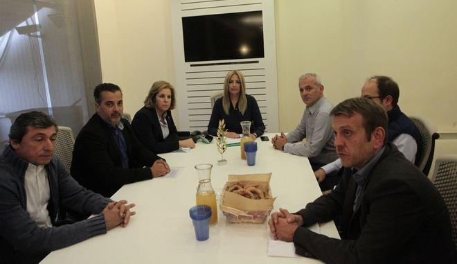 Συνάντηση της προέδρου του ΚΙΝΑΛ Φώφης Γεννηματά με την Ένωση Αστυνομικών Υπαλλήλων