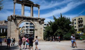 Τουρίστες στο κέντρο της Αθήνας